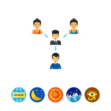 Team Structure Concept Icon with People Illustration