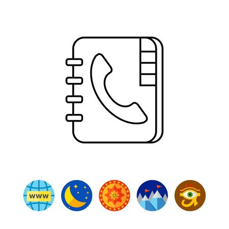 phoning: Telephone book icon