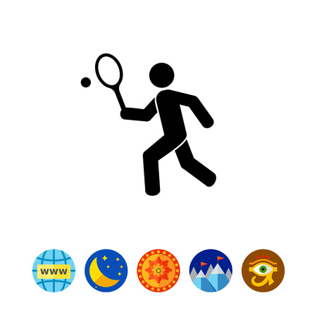 Tennis Concept Icon Illustration