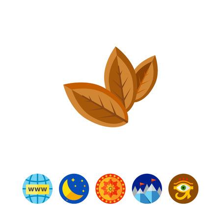 Three Dry Tobacco Leaves Icon