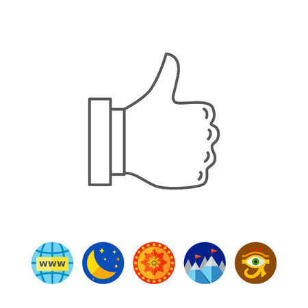 alright: Thumb up icon