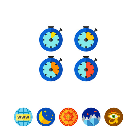 Time Watches Icon Illustration