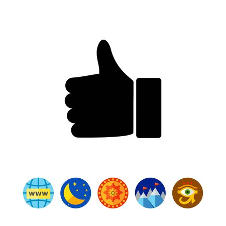 alright: Thumb Up Icon Illustration