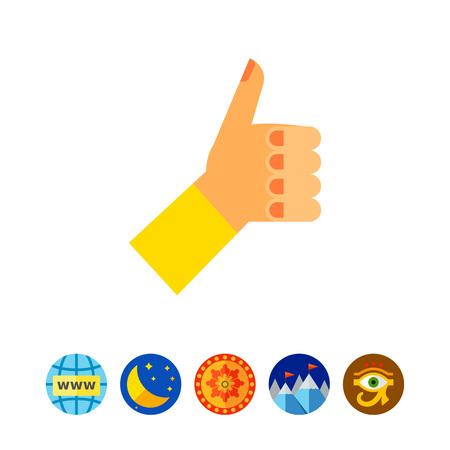 puños cerrados: Thumb Up Vector Icon Vectores