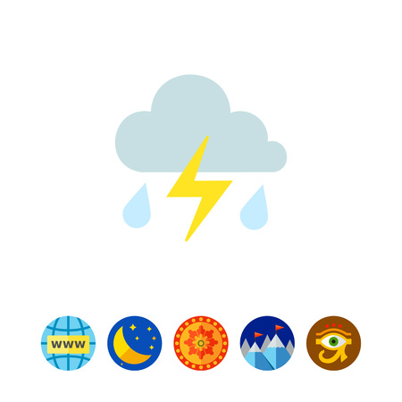 Thunderstorm icon Illustration