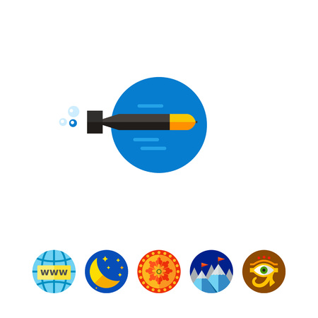 menace: Torpedo Moving in Water Icon