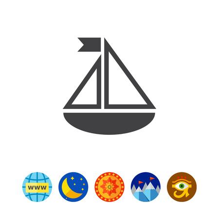 Toy ship Illustration
