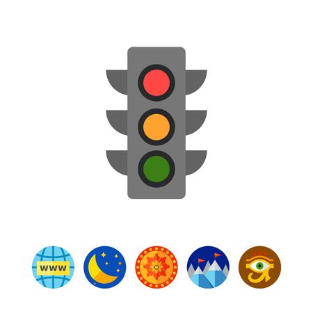 stoplight: Traffic light icon
