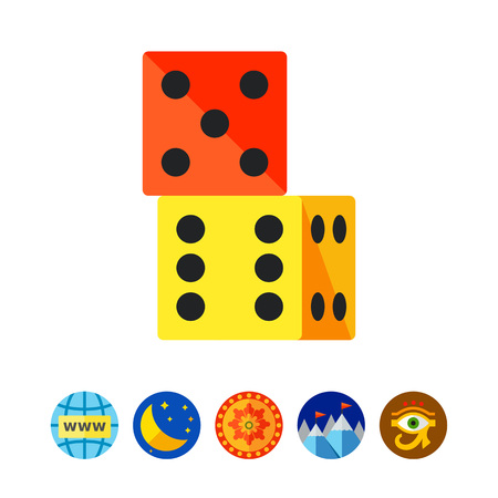 Two Dice Icon Stock Vector - 80910842