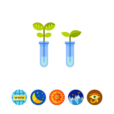 bioscience: Two flasks as Biotechnology Concept Icon