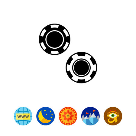sports application: Two Poker Chips Icon