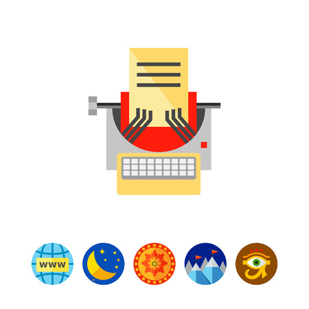 Typewriter as Copywriting Concept Icon
