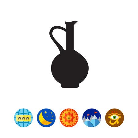 Vintage jug icon