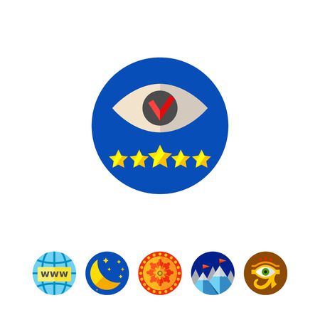 Vision Concept Icon with Eye and Stars