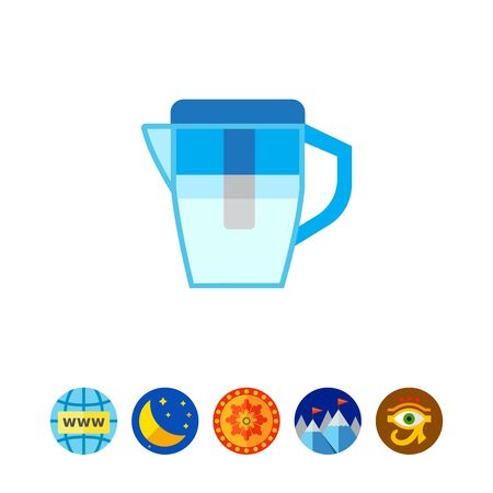 filtering: Water filter jug icon