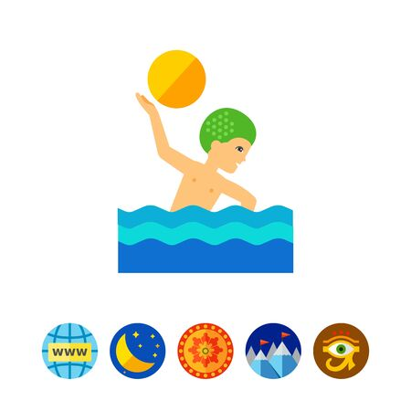 swimming cap: Water Polo Icon