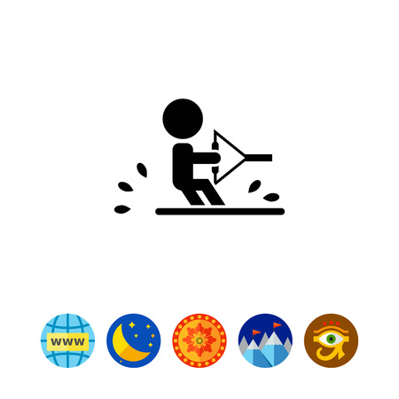water wave: Water skiing icon