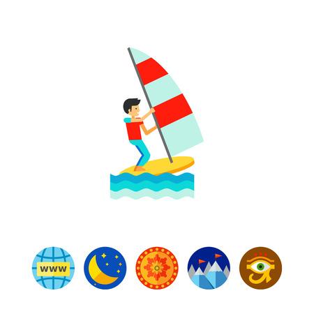water wave: Wind Surfing Icon