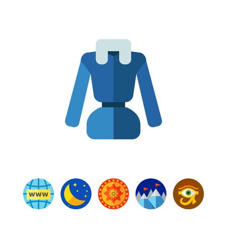 Woman down jacket icon