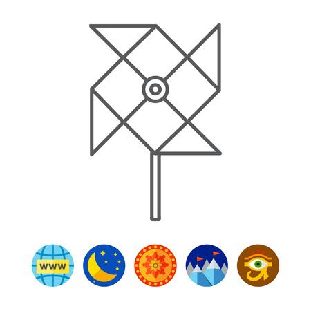 paper pin: Windmill