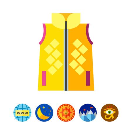 Woman vest icon