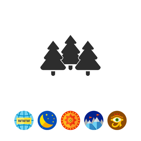 Icon of tree fir trees Illustration