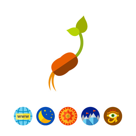 seeding: Newborn plant icon