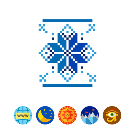 freeze: Norway traditional ornament icon Illustration