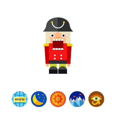 Nutcracker Toy Icon Illustration