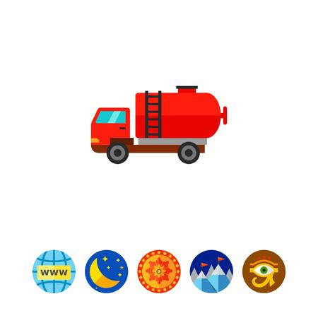 Petroleum truck vector icon
