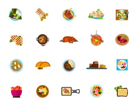 Dishes icon set Ilustracja