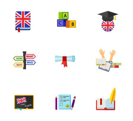 stress test: English icon set Illustration