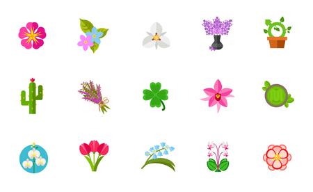 Fleurs , icône , ensemble Banque d'images - 80954316