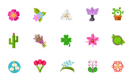 Flowers icon set Illustration