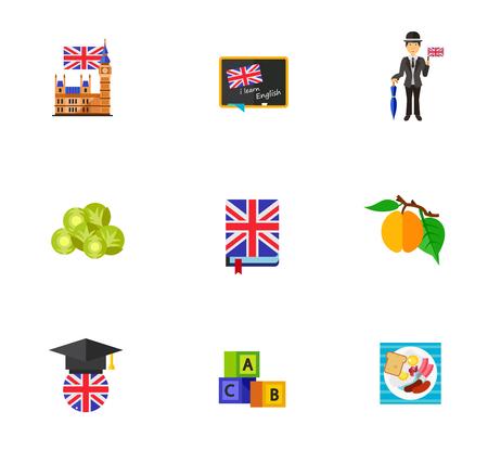 Learning English icon set