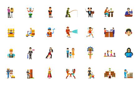 People icon set Illustration