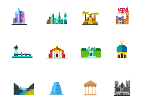 Places of interest icon set