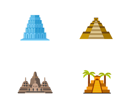 피라미드 아이콘 세트