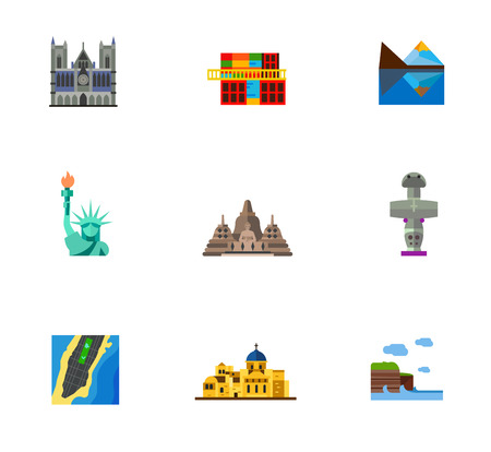 Sightseeing icon set