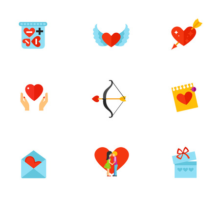 charity collection: Valentines day icon set.