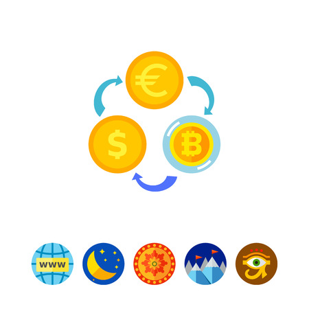 Exchange Rates Concept Icon