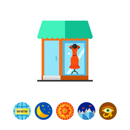 Fashion store icon