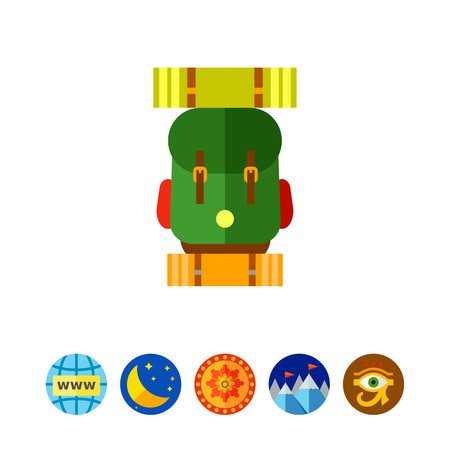 exploring: Hiking Backpack Icon
