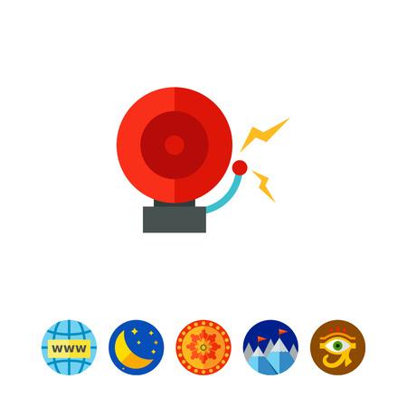 Alarm bell icon Illustration