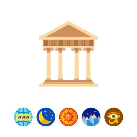 Ancient Greek architecture icon Illustration