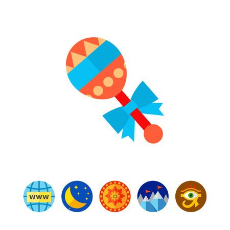 Baby rattle icon Illustration
