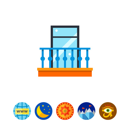 balustrade: Balcony Vector Icon