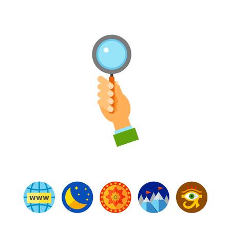 Bidder hand holding auction paddle icon Illustration