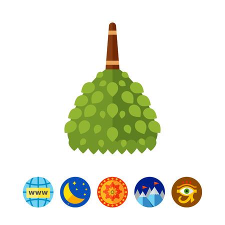 Birch broom icon