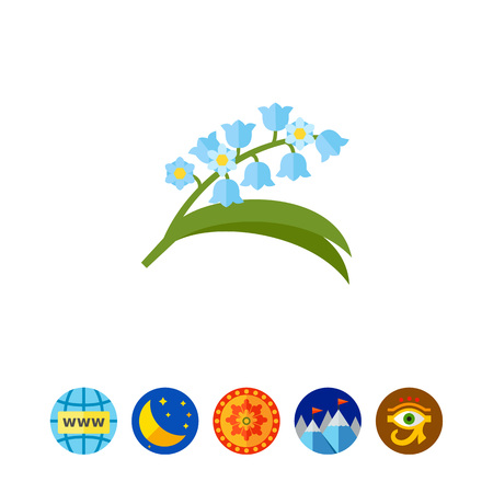 finnish: Blooming lily of valley icon